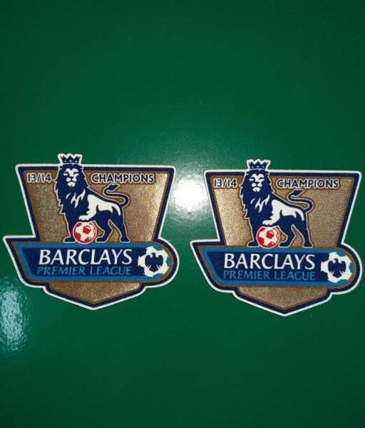 Patch F.A. Premier League 2013-2014 Champions badge gold