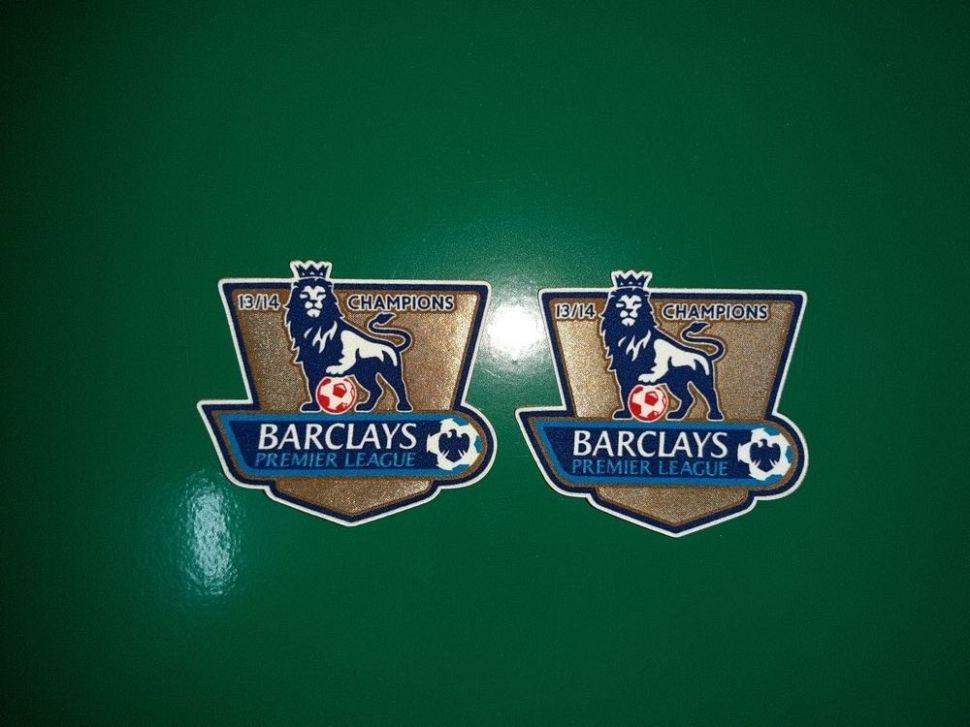 Patch F.A. Premier League 2013-2014 Champions badge gold