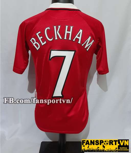Áo đấu Beckham #7 Manchester United 1999-2000 Champion League home red