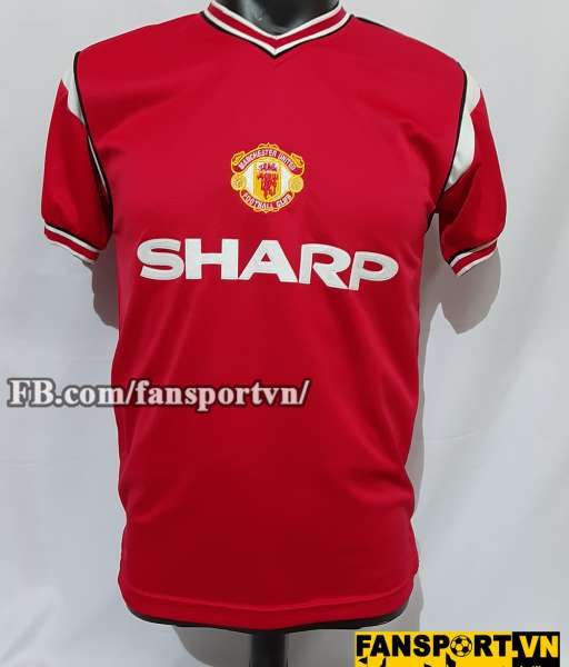 Áo đấu Manchester United 1984-1985-1986 home shirt jersey red