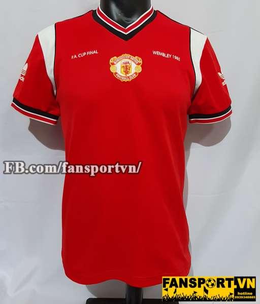 Áo đấu Manchester United FA Cup final 1985 retro adidas home shirt red