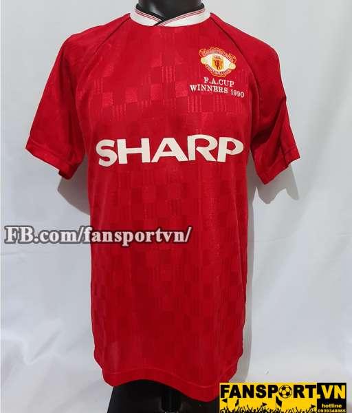 Áo đấu Manchester United FA Cup winner 1990 home shirt jersey red