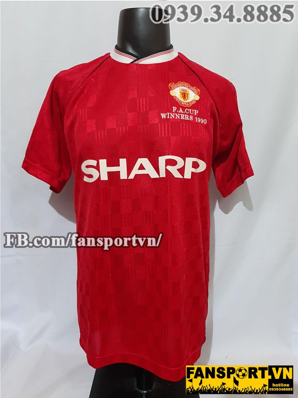 pretty nice 609af f3abe Áo đấu Manchester United FA Cup winner 1990 home shirt ...