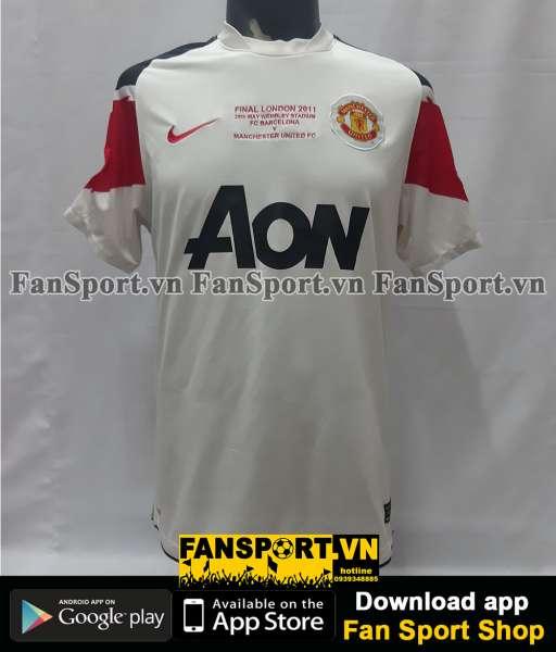 Áo Manchester United Champion League final 2010 away shirt jersey 2011