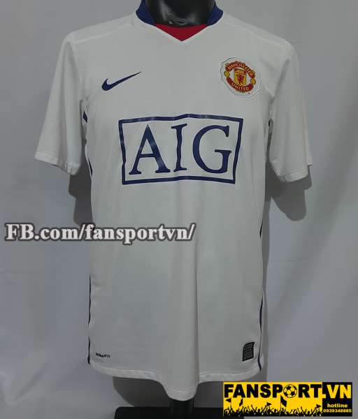 Áo đấu Manchester United 2008-2009-2010 away shirt jersey white