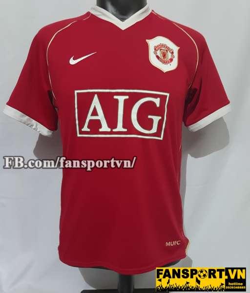 Áo đấu Manchester United 2006-2007 home shirt jersey red