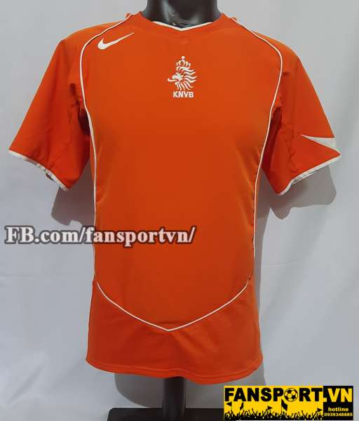 Áo đấu Netherland 2004 2005 2006 home shirt jersey orange Holland Euro