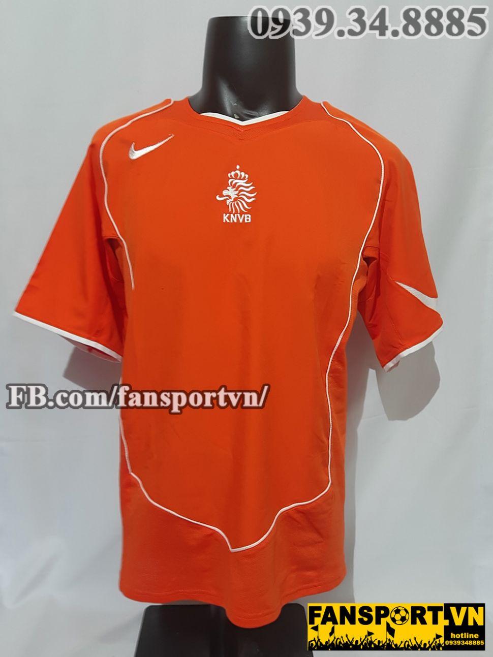 Áo đấu Netherland 2004 2005 2006 home shirt jersey orange Holland Euro