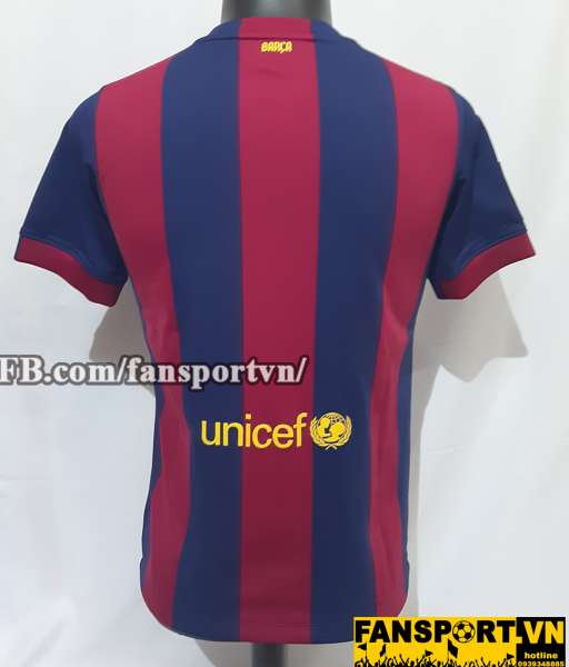 Áo Barcelona 2014-2015 home shirt jersey red blue