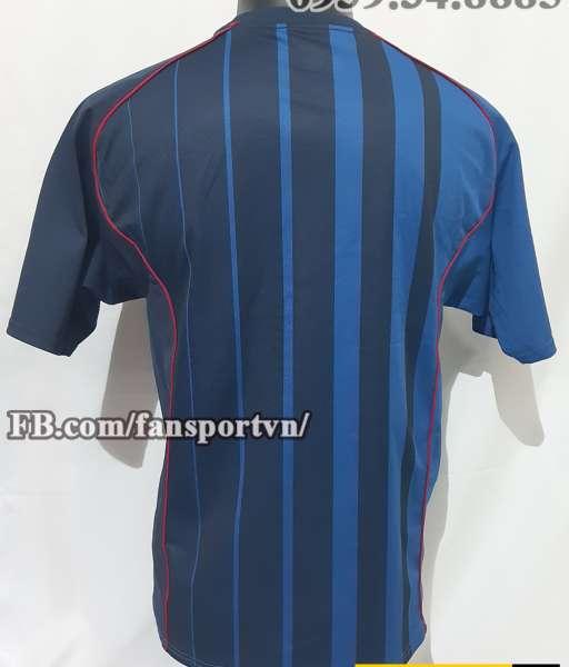 Áo Barcelona 2004-2005 away shirt jersey blue