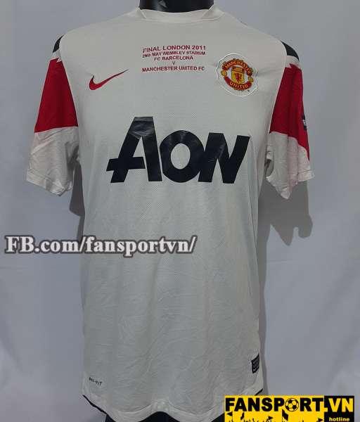 Áo đấu Manchester United Champion League Final 2011 away third shirt