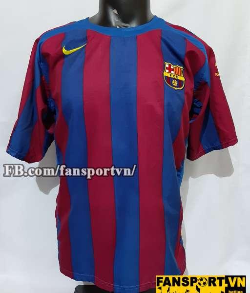 Áo đấu Barcelona Champion League final 2006 home shirt jersey red 2005