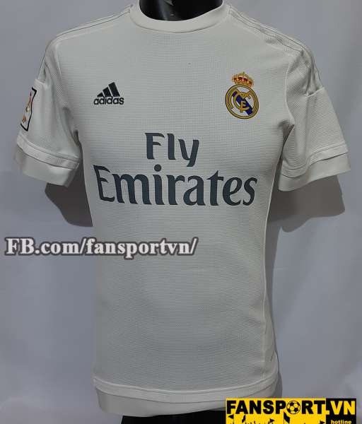 Áo đấu Real Madrid 2015-2016 home shirt jersey white