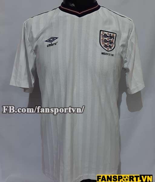 Áo đấu England 1984-1985-1986 home shirt jersey white