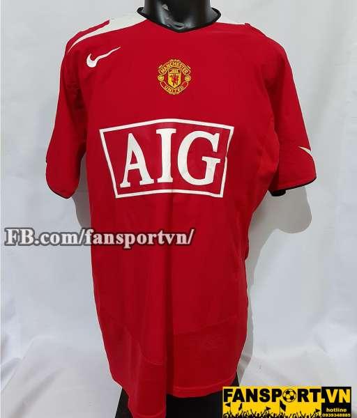 Áo đấu Manchester United 2004-2005-2006 AIG home shirt jersey red
