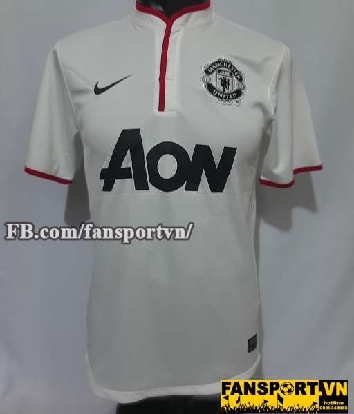 Áo đấu Manchester United 2012-2013-2014 away third shirt jersey white