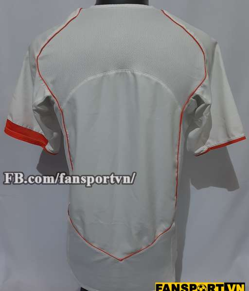 Áo đấu Netherland 2004 2005 2006 away shirt jersey white Holland Euro