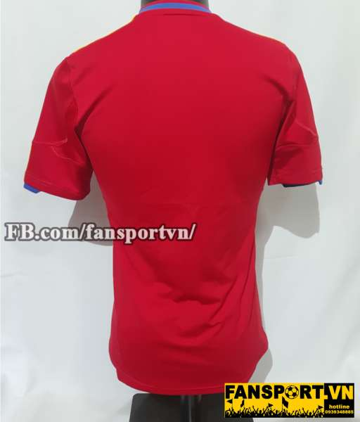 Áo đấu Spain 2010-2011 home shirt jersey red World Cup