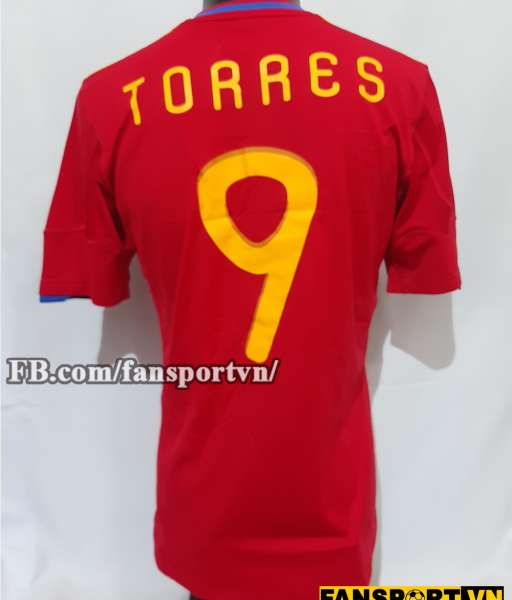 Áo đấu Torres #9 Spain 2010-2011 home shirt jersey red World Cup