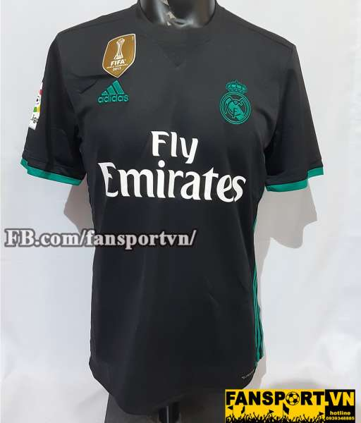 Áo đấu Real Madrid 2017-2018 away shirt jersey black