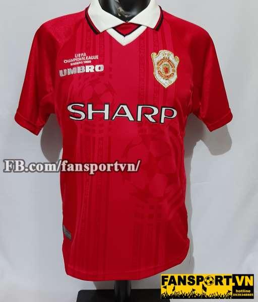Áo đấu Manchester United 1997-2000 Champion League home red jersey