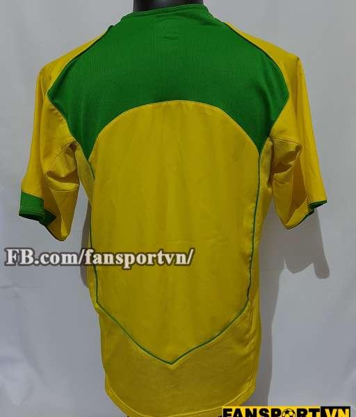 Áo đấu Brazil 2004-2005-2006 home shirt jersey yellow