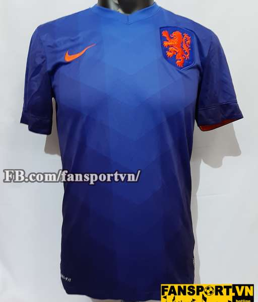 Áo đấu Netherland 2014-2015 away shirt jersey blue Holland World Cup