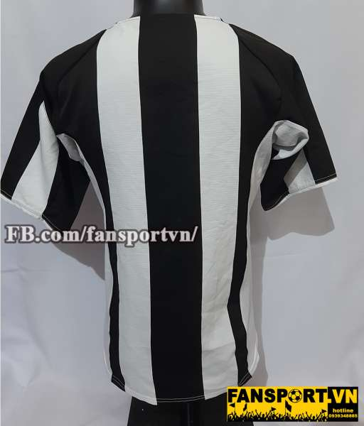 Áo đấu Juventus 2004-2005 home shirt jersey black white