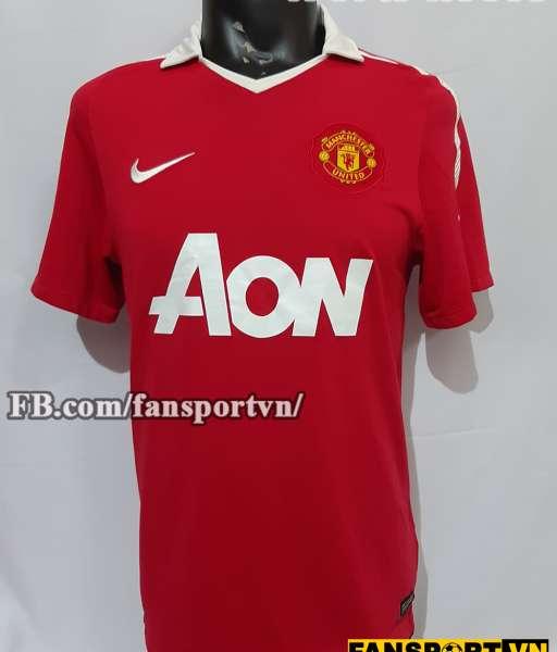 Áo đấu Manchester United 2010-2011 home shirt jersey red