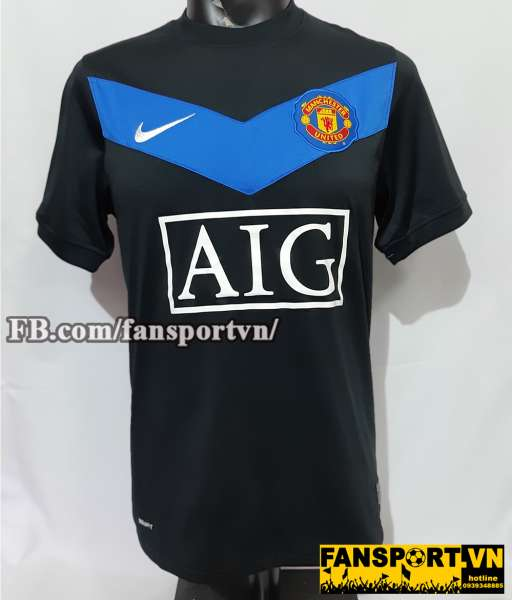 Áo đấu Manchester United 2009-2010 home shirt jersey black
