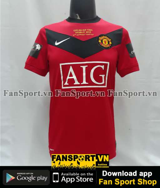 Áo Manchester United League Cup Final 2010 home shirt jersey red 2009