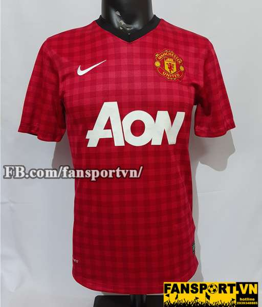 Áo đấu Manchester United 2012-2013 home shirt jersey red