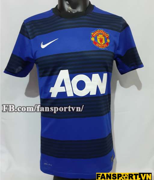 Áo đấu Manchester United 2011-2012-2013 away third shirt jersey blue
