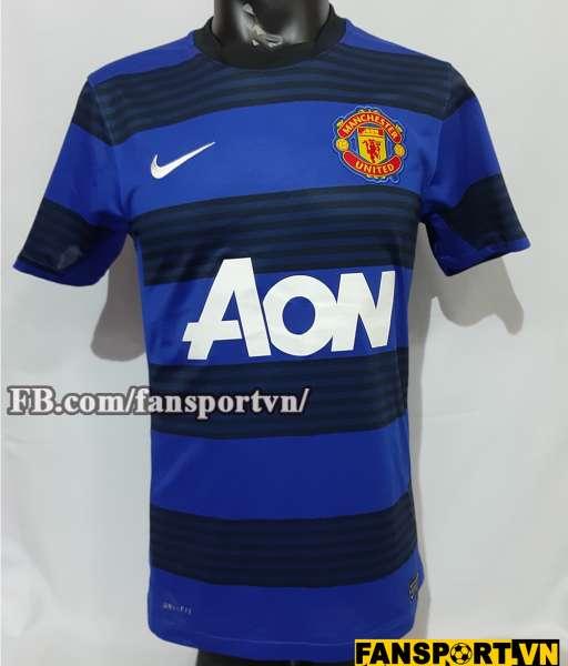 Áo đấu Manchester United 2011-2012-2013 away third shirt jersey blue