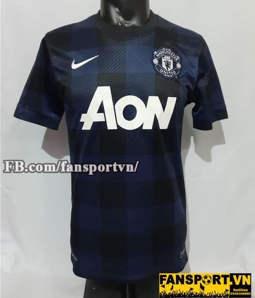 Áo đấu Manchester United 2013-2014 away shirt jersey blue