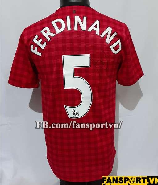 Áo đấu chữ ký Ferdinand #5 Manchester United 2012-2013 home shirt