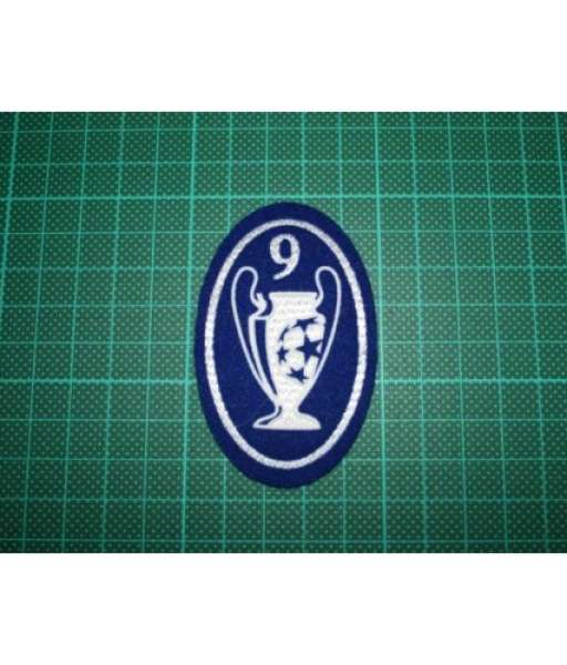 Patch Champion League 9 times trophy 2000-2012 badge blue