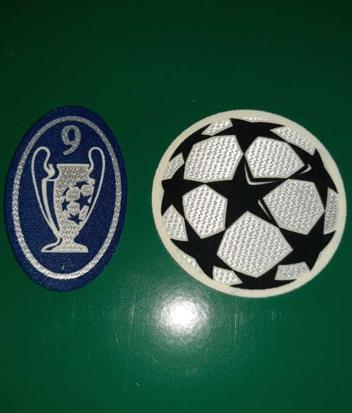 Patch Champion Leguea Real Madrid 2003-2007 badge 9 times trophy blue