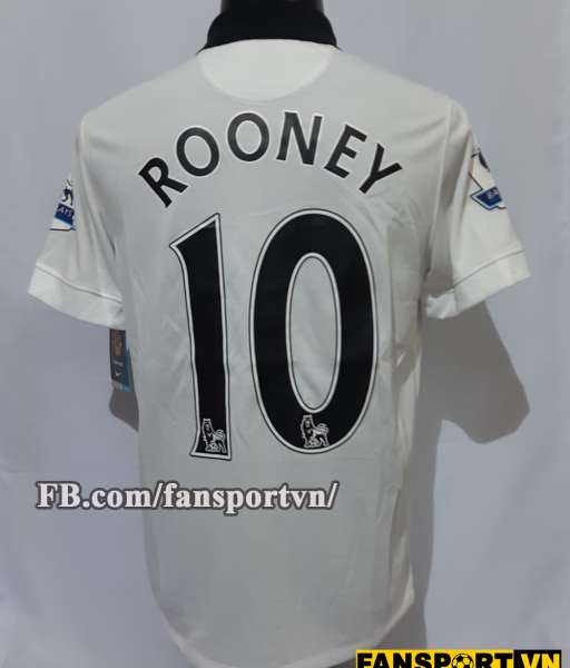 Áo đấu Rooney #10 Manchester United 2014-2015 away shirt jersey white
