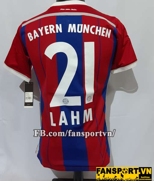 Áo đấu Lahm #21 Bayern Munich 2014-2015 home shirt jersey red blue