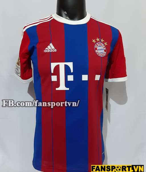 Áo đấu Muller #25 Bayern Munich 2014-2015 home shirt jersey red blue