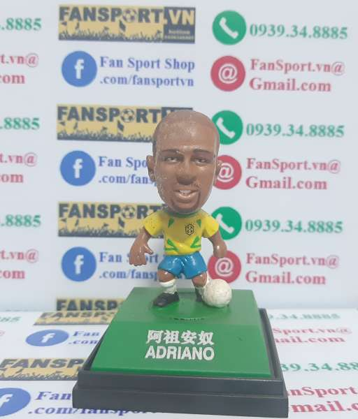 Tượng Adriano #9 Brazil 2002-2003-2004 home - kodoto ball yellow BOX