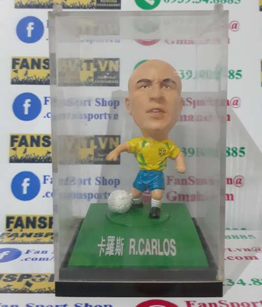 Tượng Carlos #6 Brazil 2002-2003-2004 home - kodoto ball yellow BOX