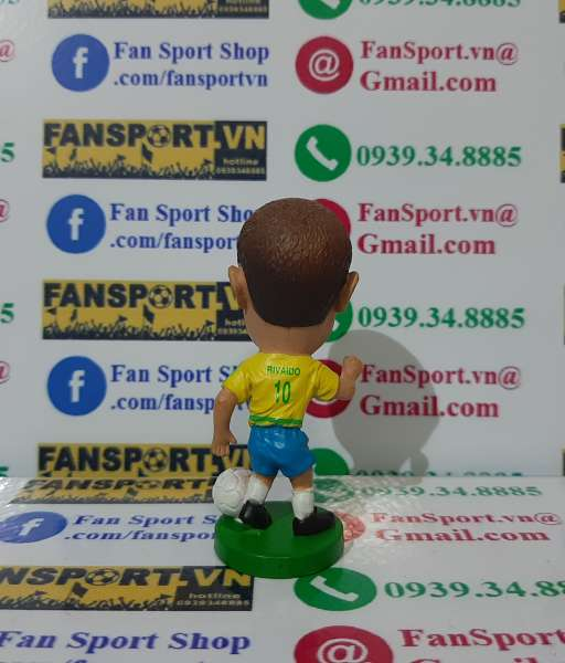 Tượng Rivaldo #10 Brazil 2002-2003-2004 home - kodoto ball yellow