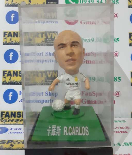 Tượng Roberto Carlos #3 Real Madrid 2003-2004 home white kodoto ball