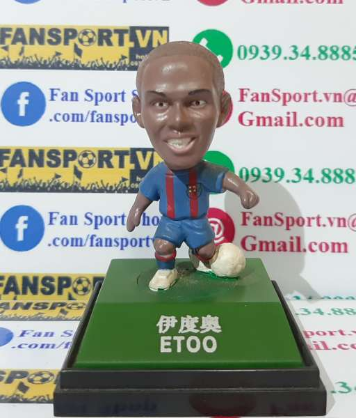 Tượng Samuel Eto'o #9 Barcelona 2002-2003 home kodoto ball red blue