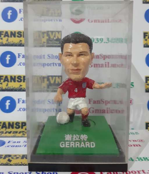 Tượng Steven Gerrard #4 England 2002-2003-2004 away red kodoto ball