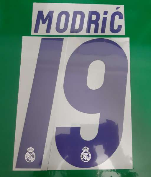 Font Modric #19 Real Madric 2016-2017 home shirt blue nameset