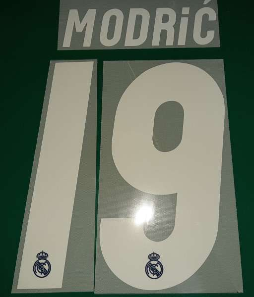 Font Modric #19 Real Madrid 2016-2017 away third shirt white nameset