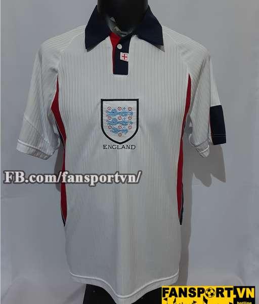 Áo đấu Beckham #7 England 1997-1998-1999 home shirt jersey white